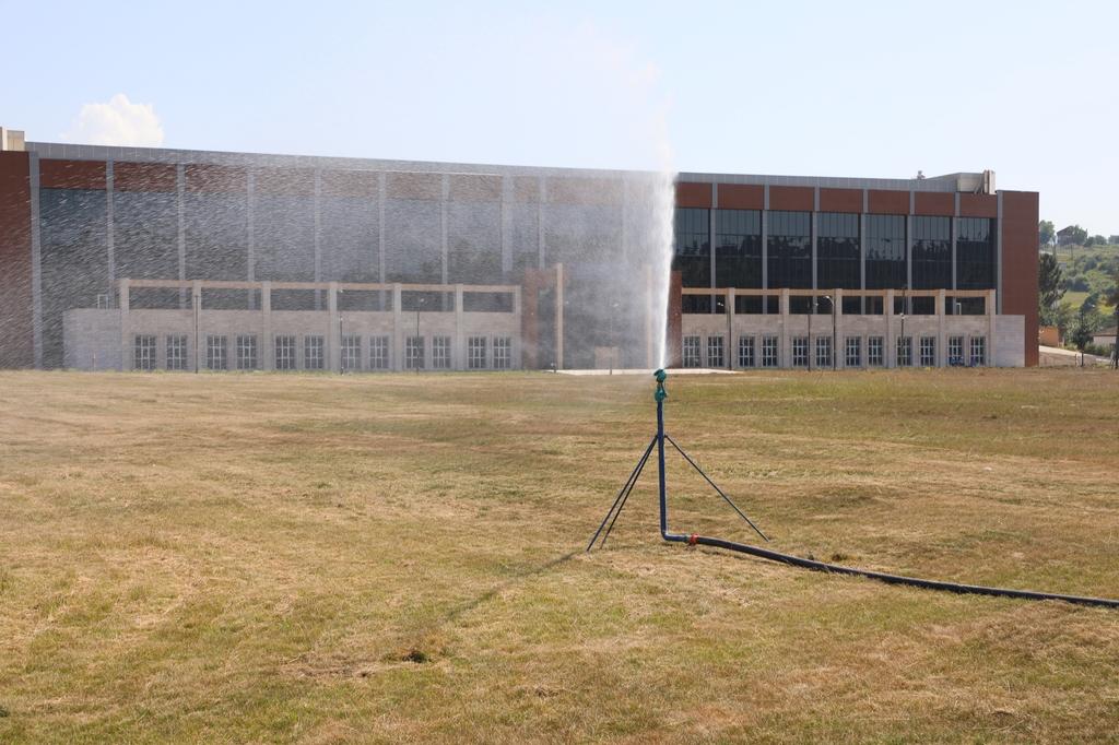 Kutlubey Kampüsü Göleti Yeşil Alanların Sulanması için Kullanılıyor